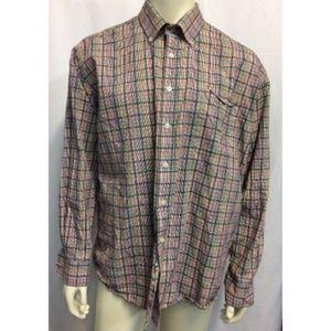 Alan Flusser Shirts - Alan Flusser Plaid Dress Shirt Long Sleeve